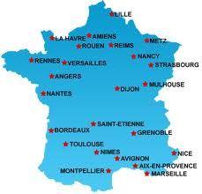 Kaart Van Frankrijk Met Plaatsen Kaarten Travel