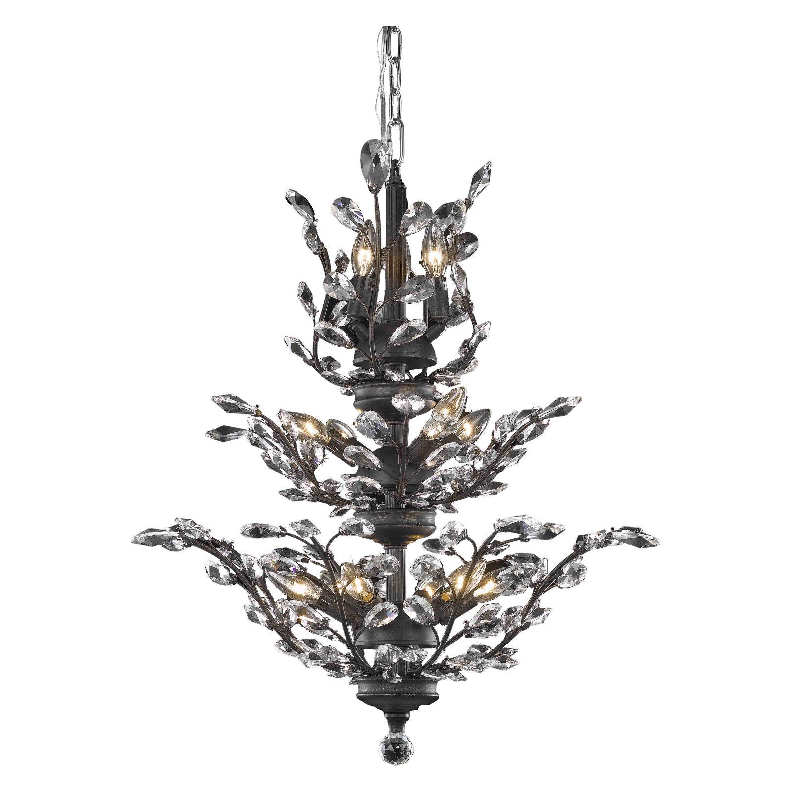 Elegant Lighting Orchid 13 Light Chandelier In