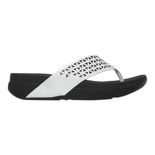 421384c34 Women s FitFlop Surfa Thong Sandal Urban Lattice Leather