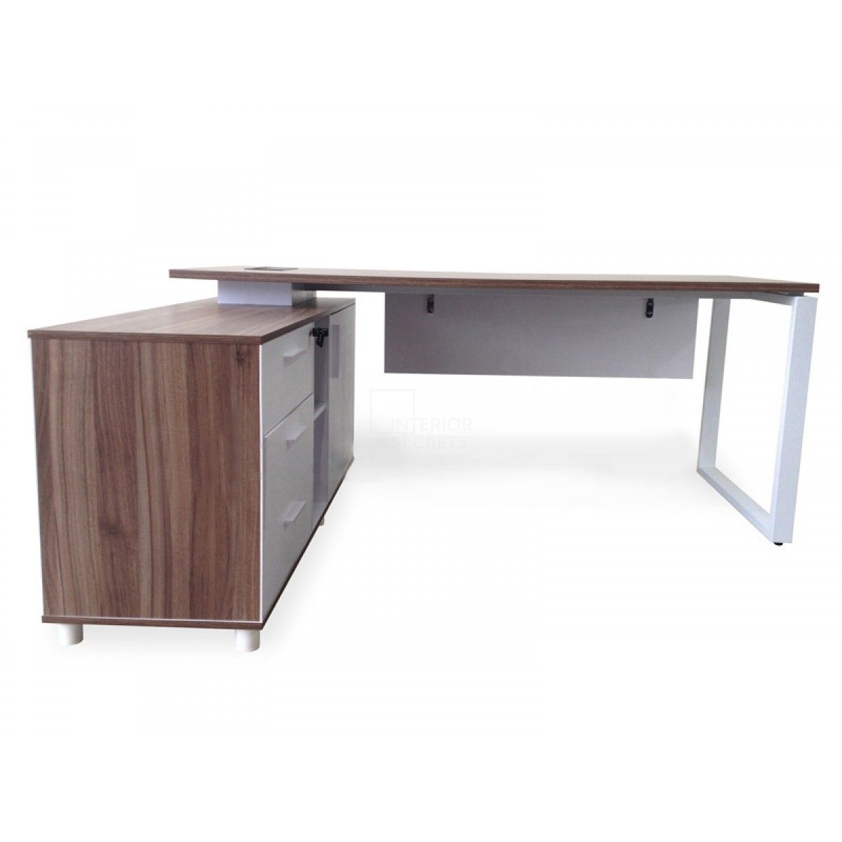 Halo executive desk with left return walnut home office