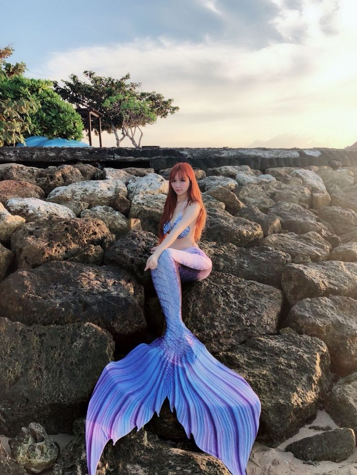 2018 NEW Blue Swimmable Mermaid Tail for Kids Women with Monofin,Mermaid Costume