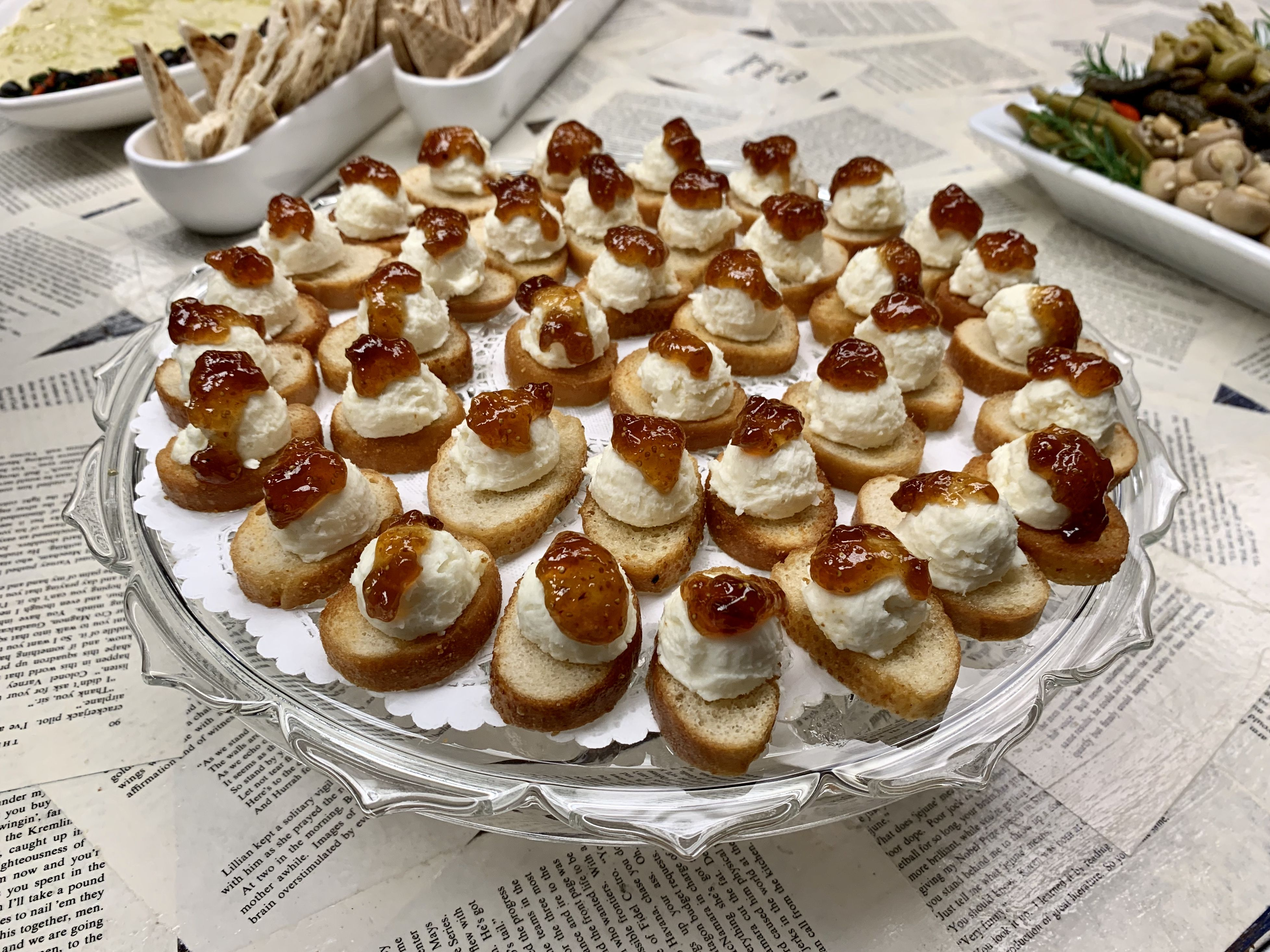 Manchego And Fig Toasts Catering By Debbi Covington Beaufort Sc In 2020 With Images Southern Cuisine Food Delicious
