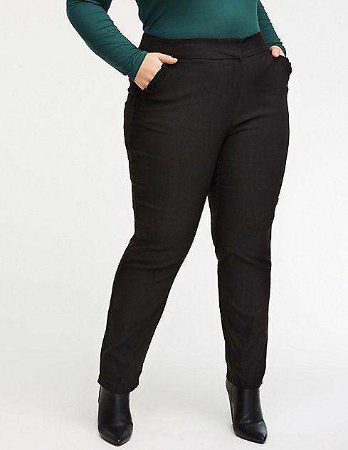 c43f5755ad1 Plus Size Ruffle Trim Trousers