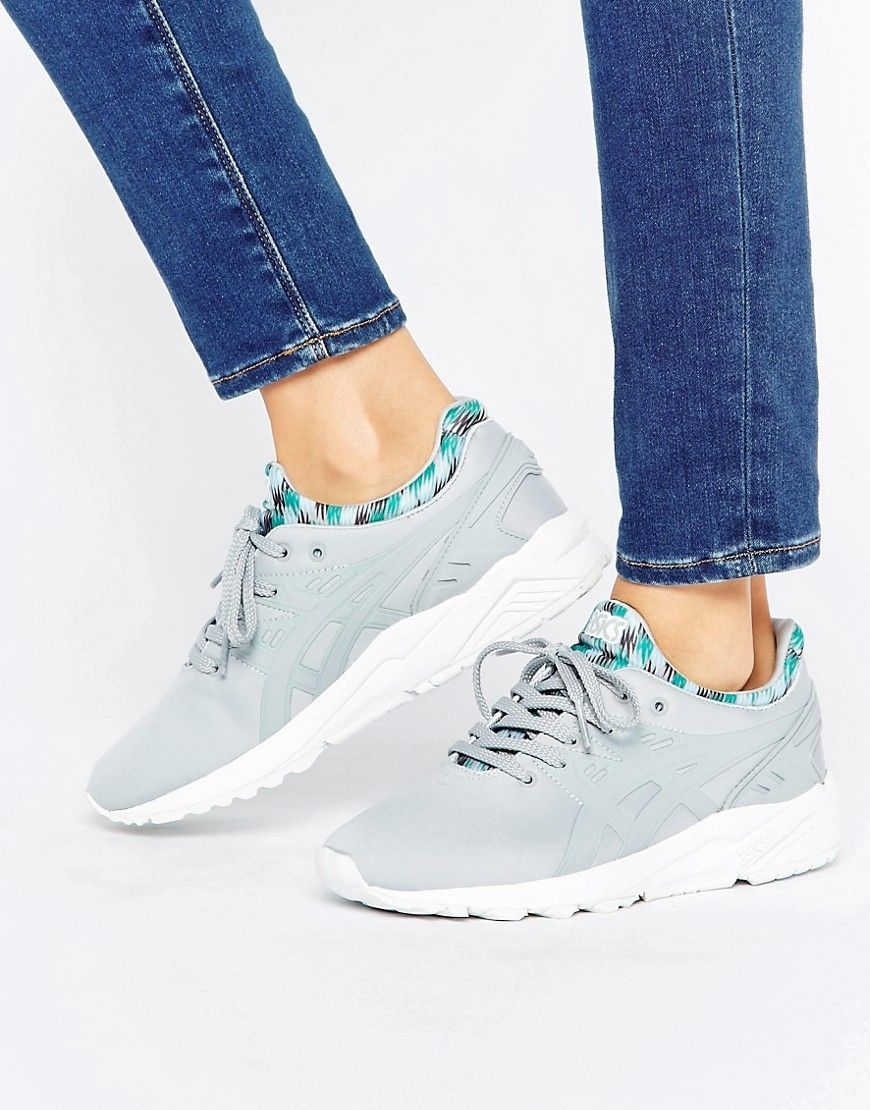 Trainers by Asics, Textile upper, Lace-up fastening, Branded design,  Contrast tongue and cuffs, Chunky sole, Moulded tread, Wipe clean, 100%  Nylon Upper.