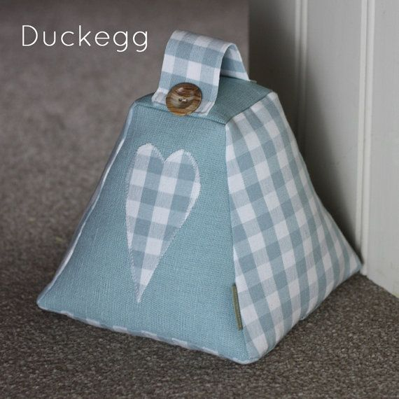 laura ashley gingham heart fabric door stop doorstop handmade from laura ashley charcoal check. Black Bedroom Furniture Sets. Home Design Ideas