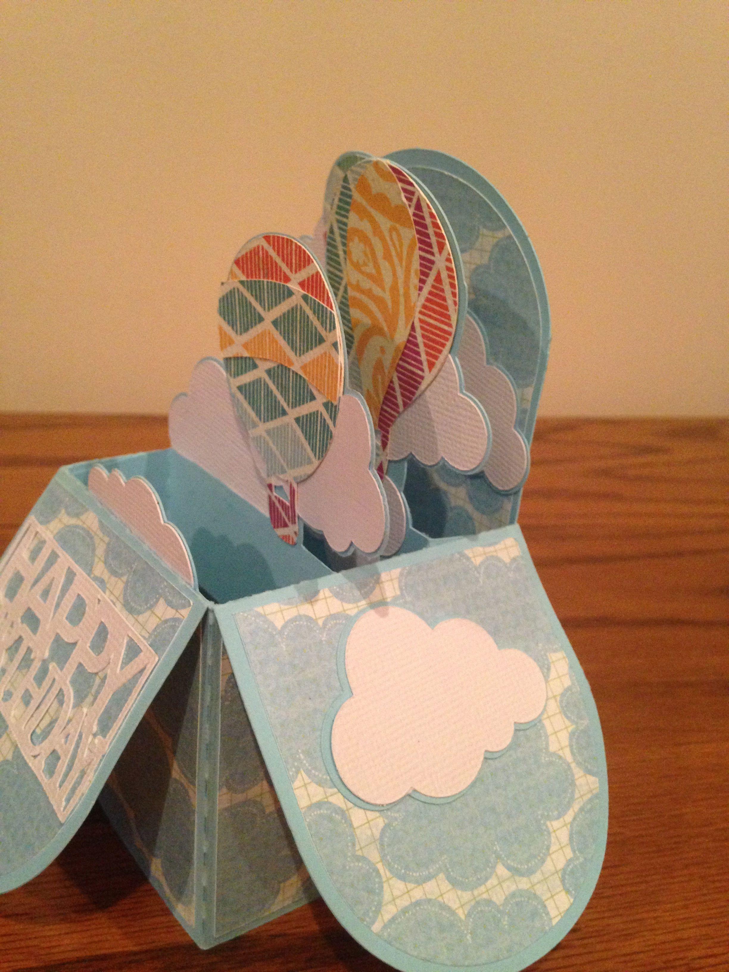 Hot Air Balloon Card Box @svgcuts