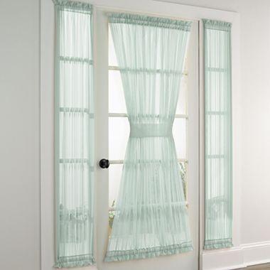 Jcp Home Lisette Sheer Door And Sidelight Panel
