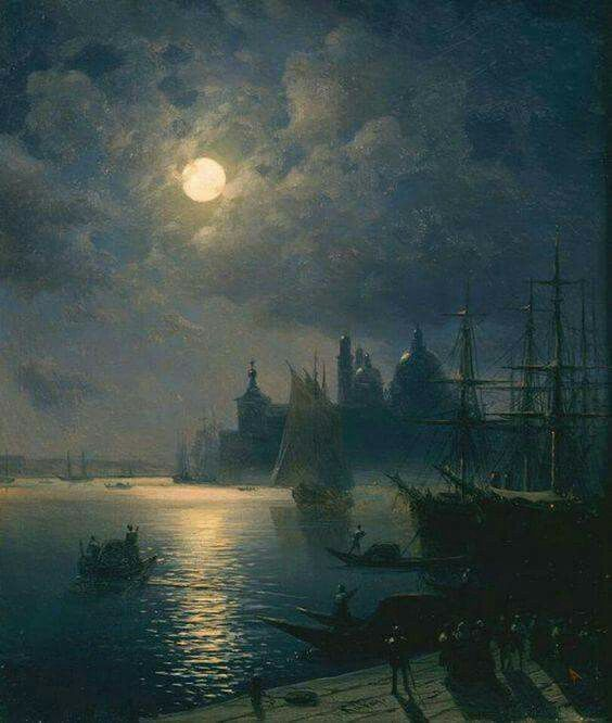 "Ivan Aivazovsky, 1817 - 1900 ""Venice at Night"""