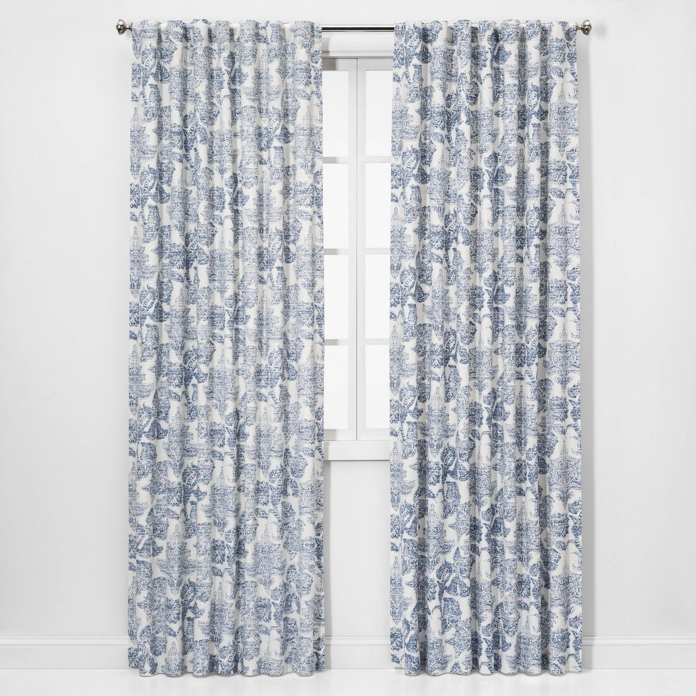 Charade Floral Light Filtering Curtain Panels Threshold Panel