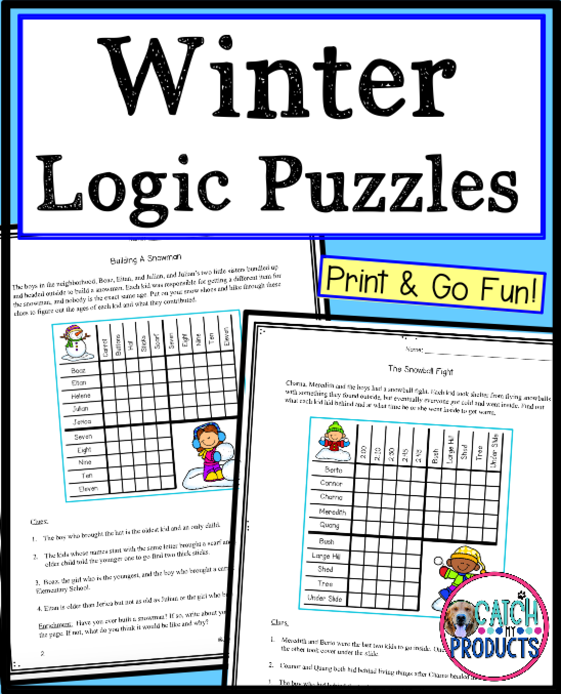 5th Grade Logic Puzzle Worksheet