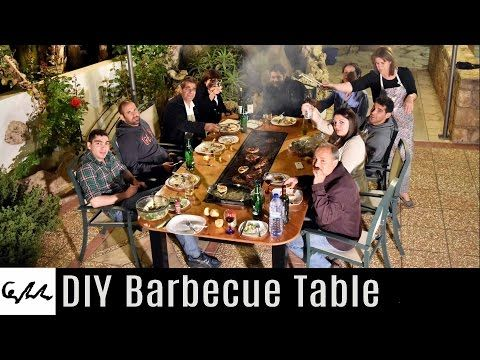 DIY Barbecue Table  YouTube  Jardin muebles  Mesa