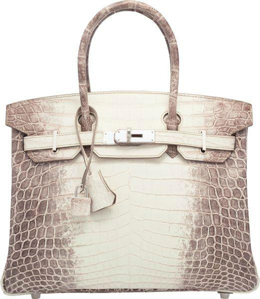 a6b254da34 Hermès 30cm Matte White Himalayan Nilo Crocodile Birkin Bag with Palladium  Hardware