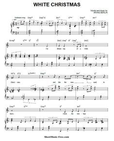 Michael Buble Weihnachtslieder.White Christmas Sheet Music Michael Buble Music Christmas Piano