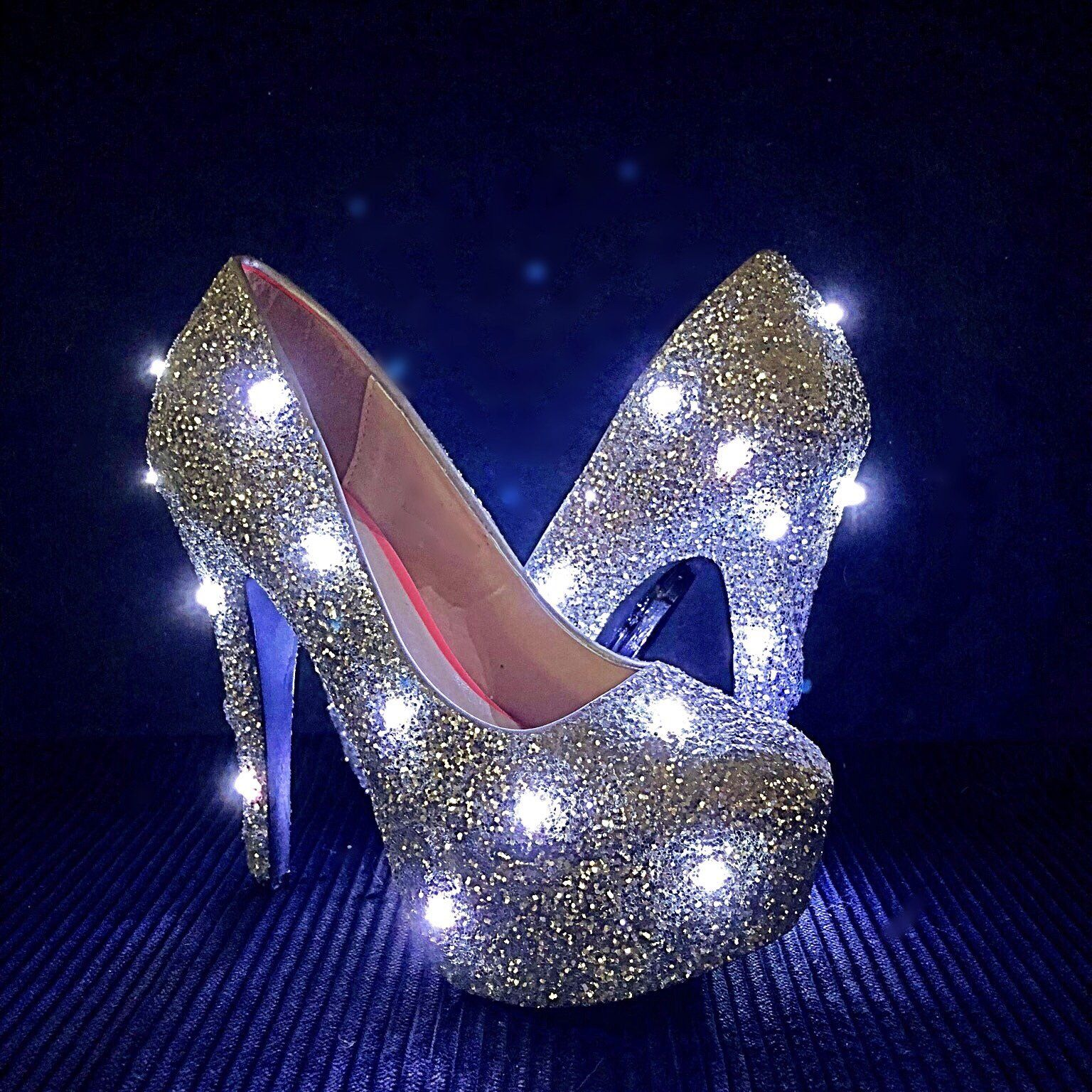 LED Glitter High Heels bd364d73c9d0