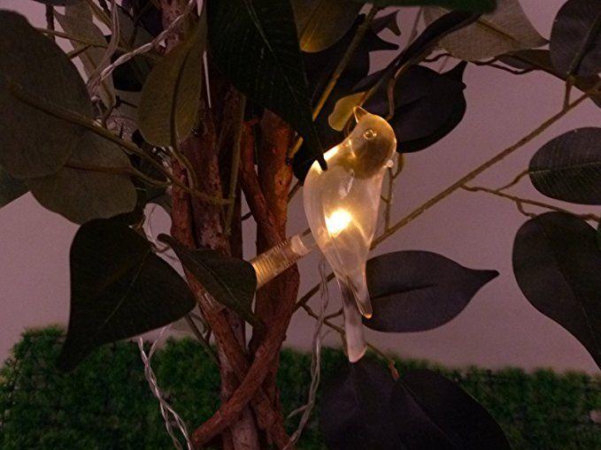 solar lichterkette 5 flammig vogel mit clip zum klemmen led wei solarleuchte dekoration. Black Bedroom Furniture Sets. Home Design Ideas