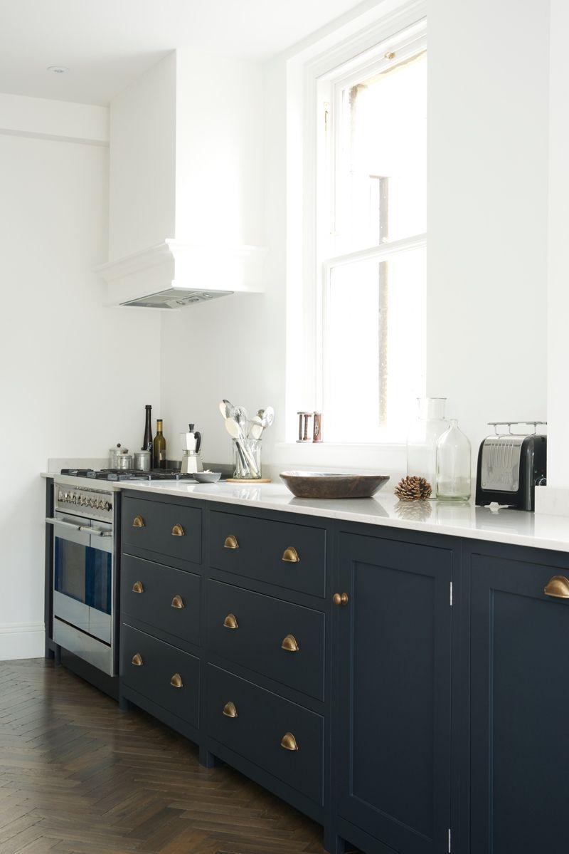Navy Cabinets Devol Kitchens Brass Kitchen Handles Kitchen Handles