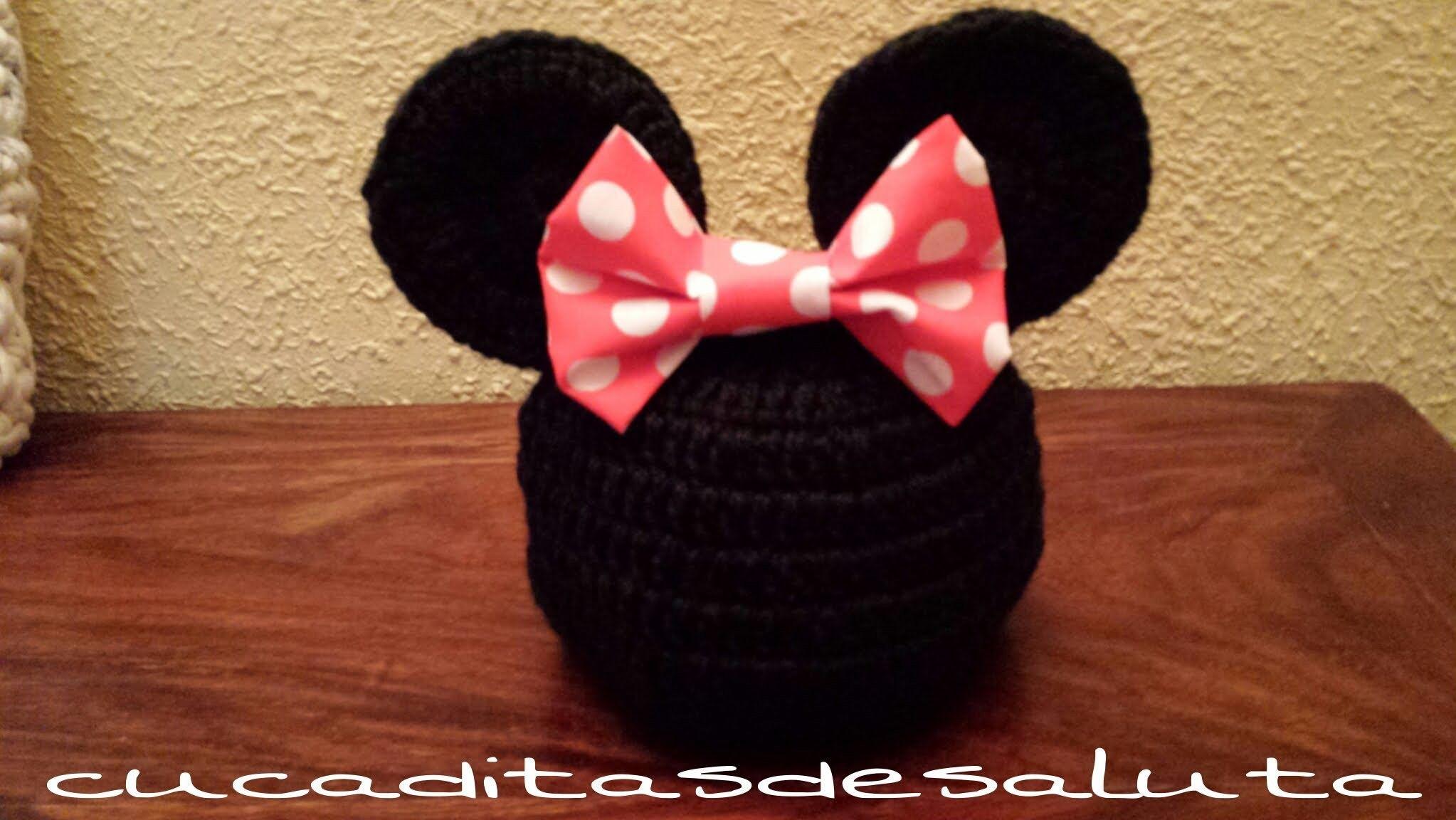 Increíble Crochet Minnie Patrón Monedero Ratón Embellecimiento ...