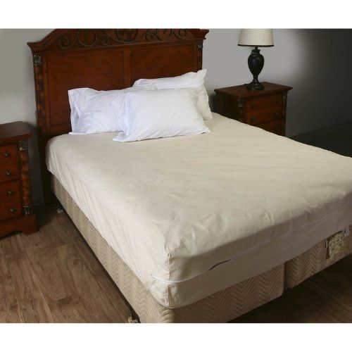 Olympic Queen Unbleached 100 Cotton Mattress Coverw Zipper 15