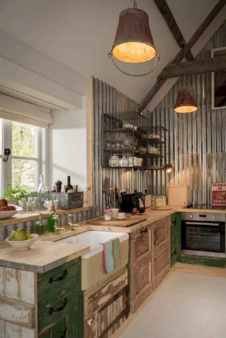 26+ Cheap Rustic Farmhouse Kitchen Ideas on A Budget # ...