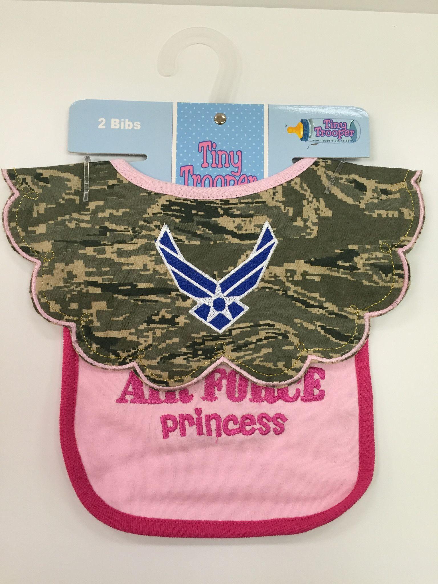 Trooper Clothing Air Force Baby ABU Princess Bibs Air