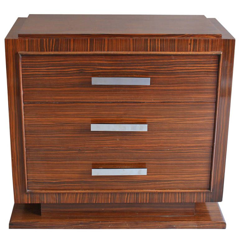 small french art deco rosewood commode
