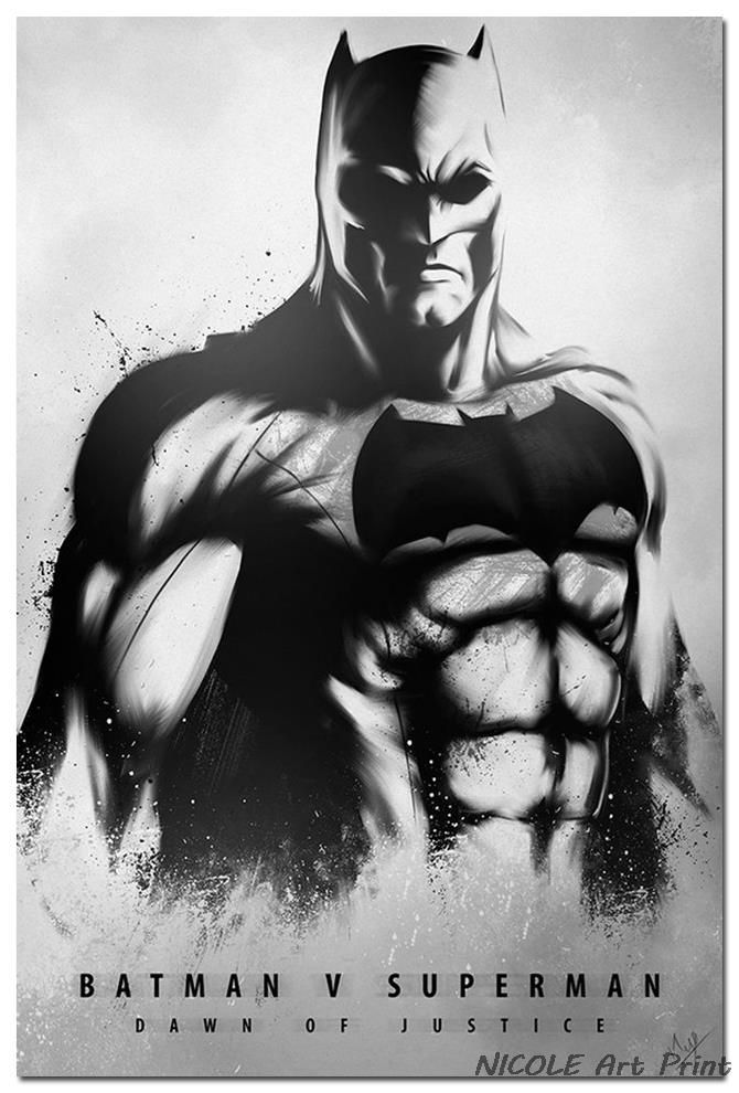 Batman VS Super Man - Dawn Of Justice Movie Art Silk Gewebe-Plakat ...