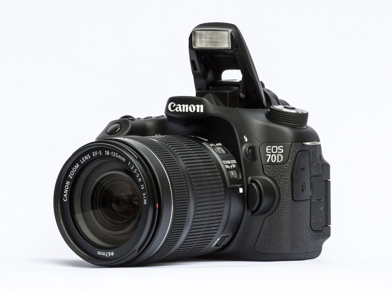 Canon EOS 70D Digital SLR Camera with 18-135mm EF-S IS STM Kit Brand ...