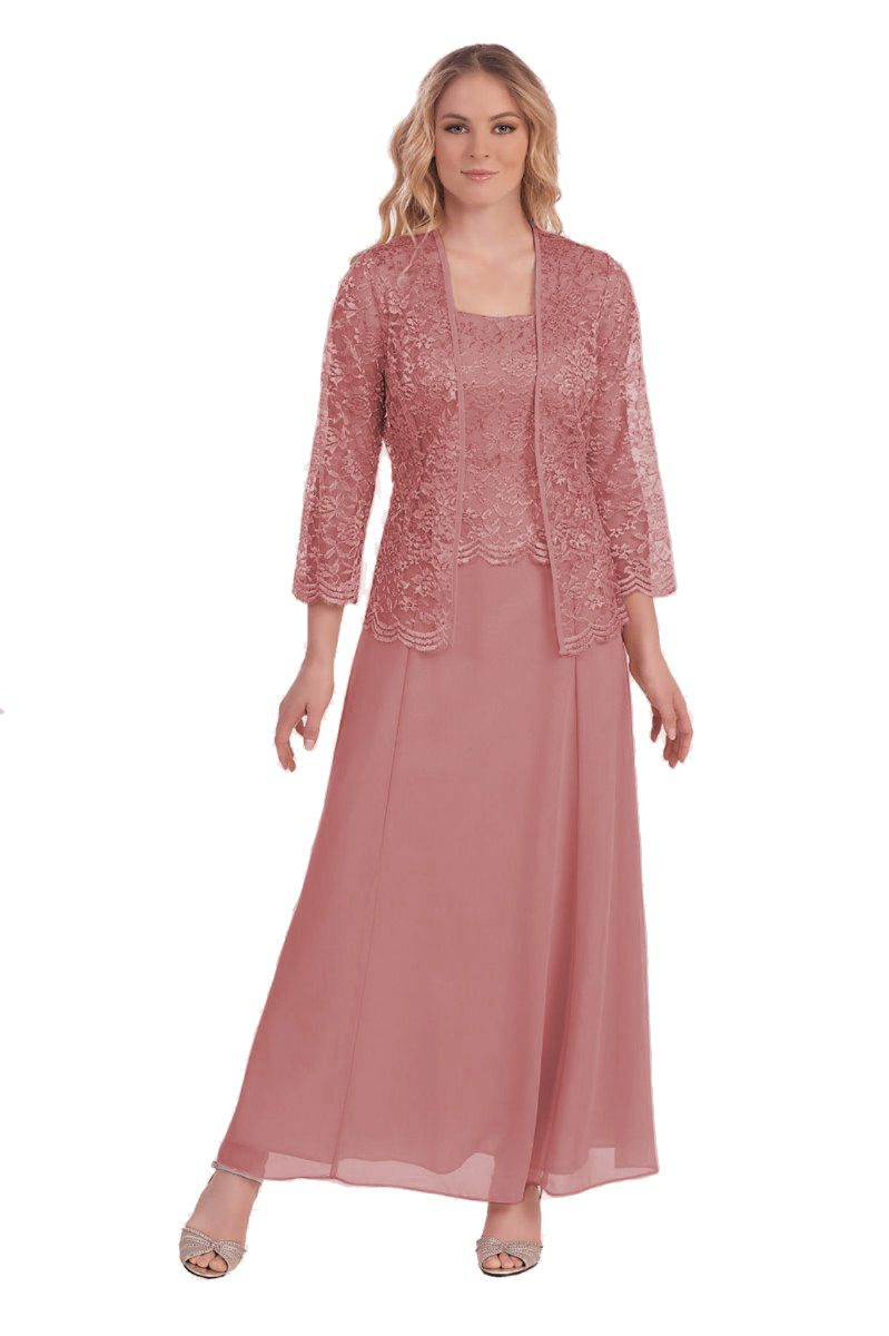 Belle Maids Belle Maids Long Mother of the Bride Formal Gown with ...