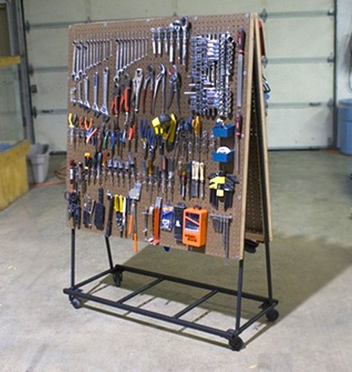 Build a rolling pegboard tool organizer organizations storage build a rolling pegboard tool organizer solutioingenieria Images