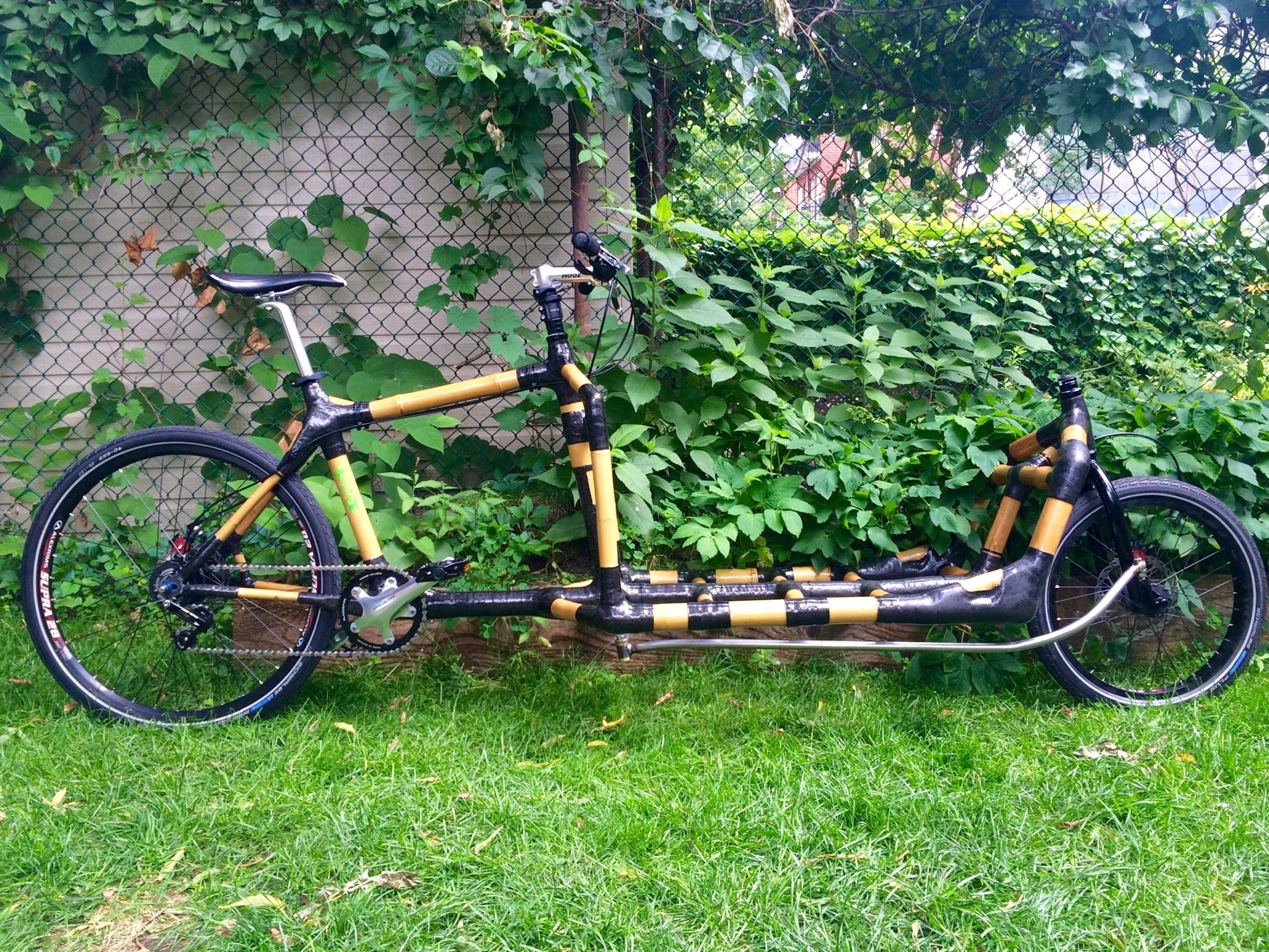 Bamboo Bike Cargo Fahrrad Kunst