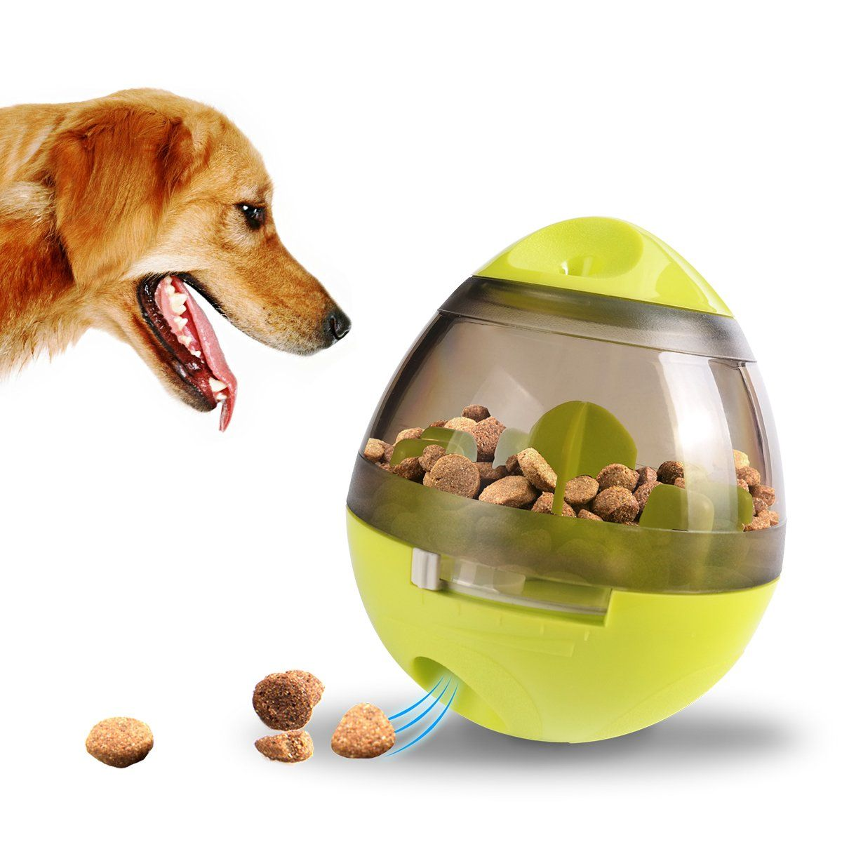 Caferria Pet Iq Treat Ball Interactive Food Dispensing Ball For Dogs And Cats Training Playing Chewing Ball M Pet Food Dispenser Food Animals Dog Cat