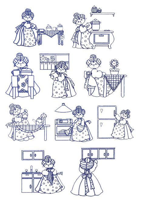 Kitchen Granny By Glenn Harris - $12.00 : Embroidery Passbook ...