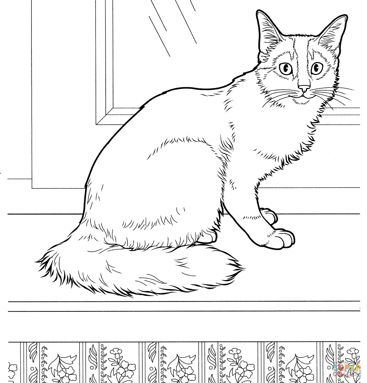 Pin By Happykidsactivity On Coloring For Kids Collection Cat