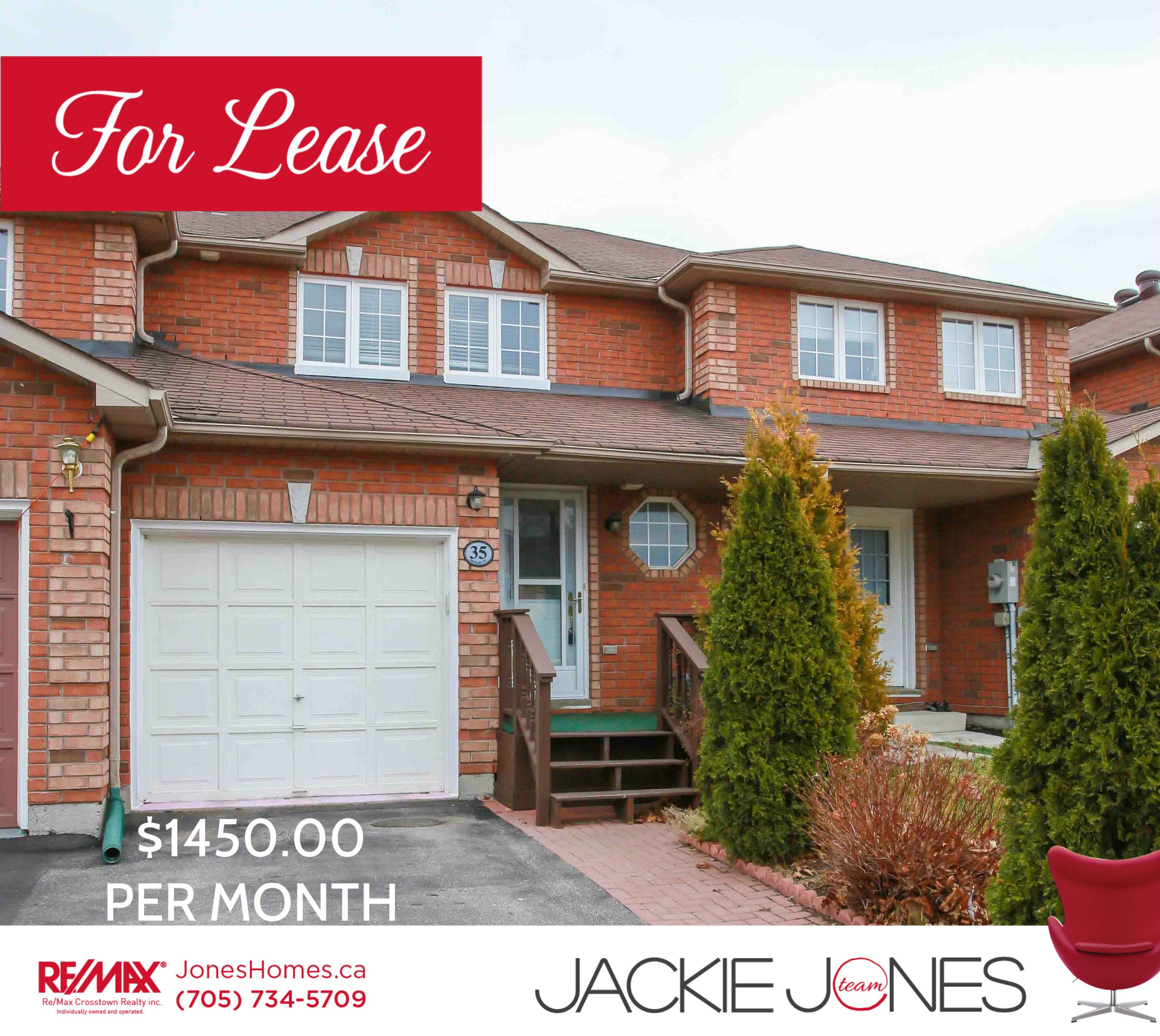 **FOR LEASE** FRESHLY PAINTED 3 BEDROOM TOWNHOME WITH