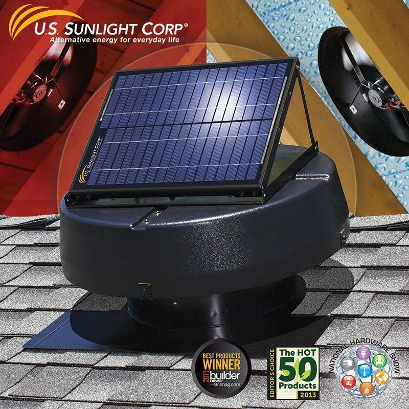 Us Sunlight Solar 9915tr 1 900sq Ft Ventilating Solar Attic Fan