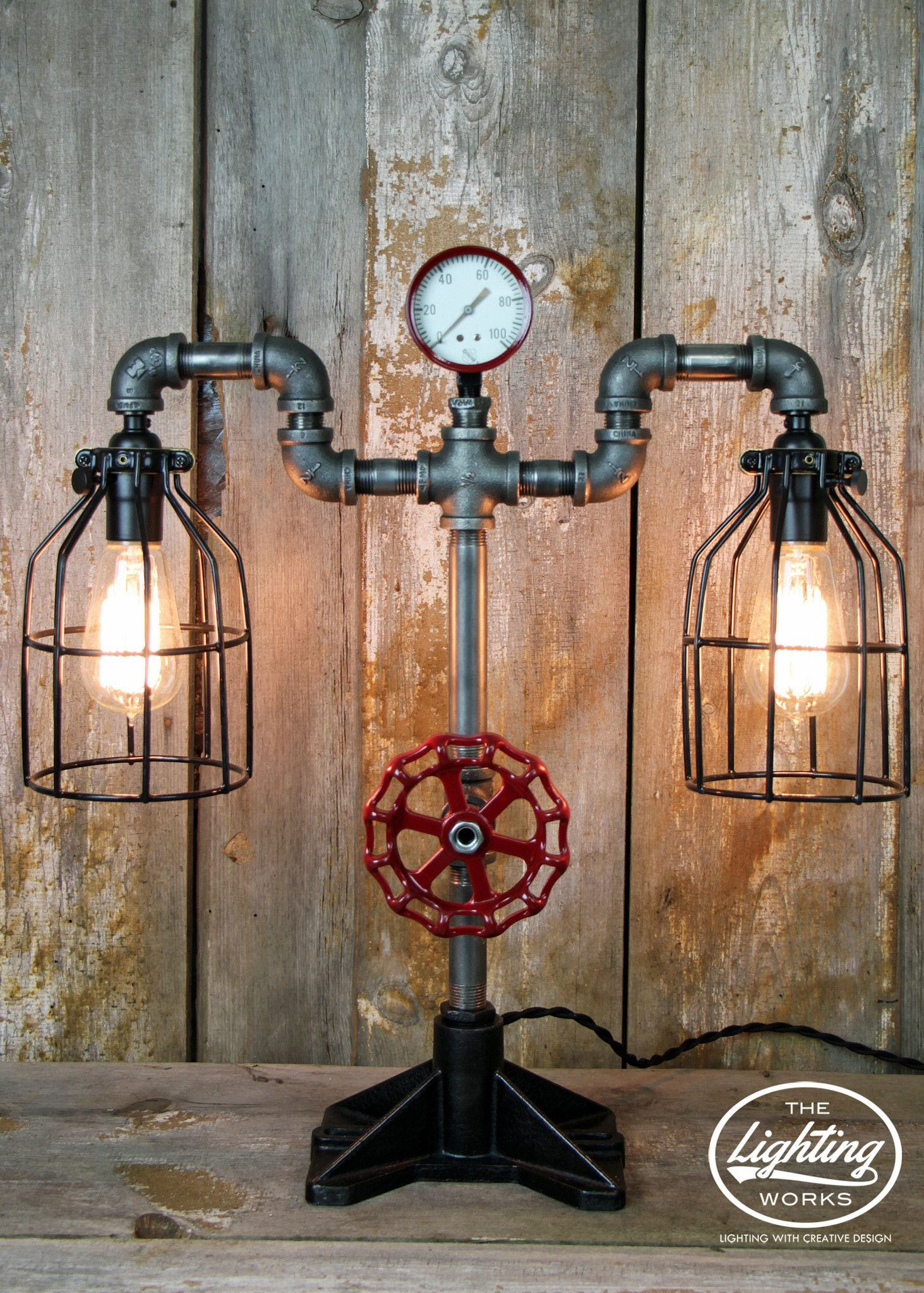 Steampunk Industrial Machine Age Lamp Add distinct charm to any ...