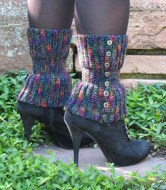 Mountain Top Spats pattern by Kris Jaeger