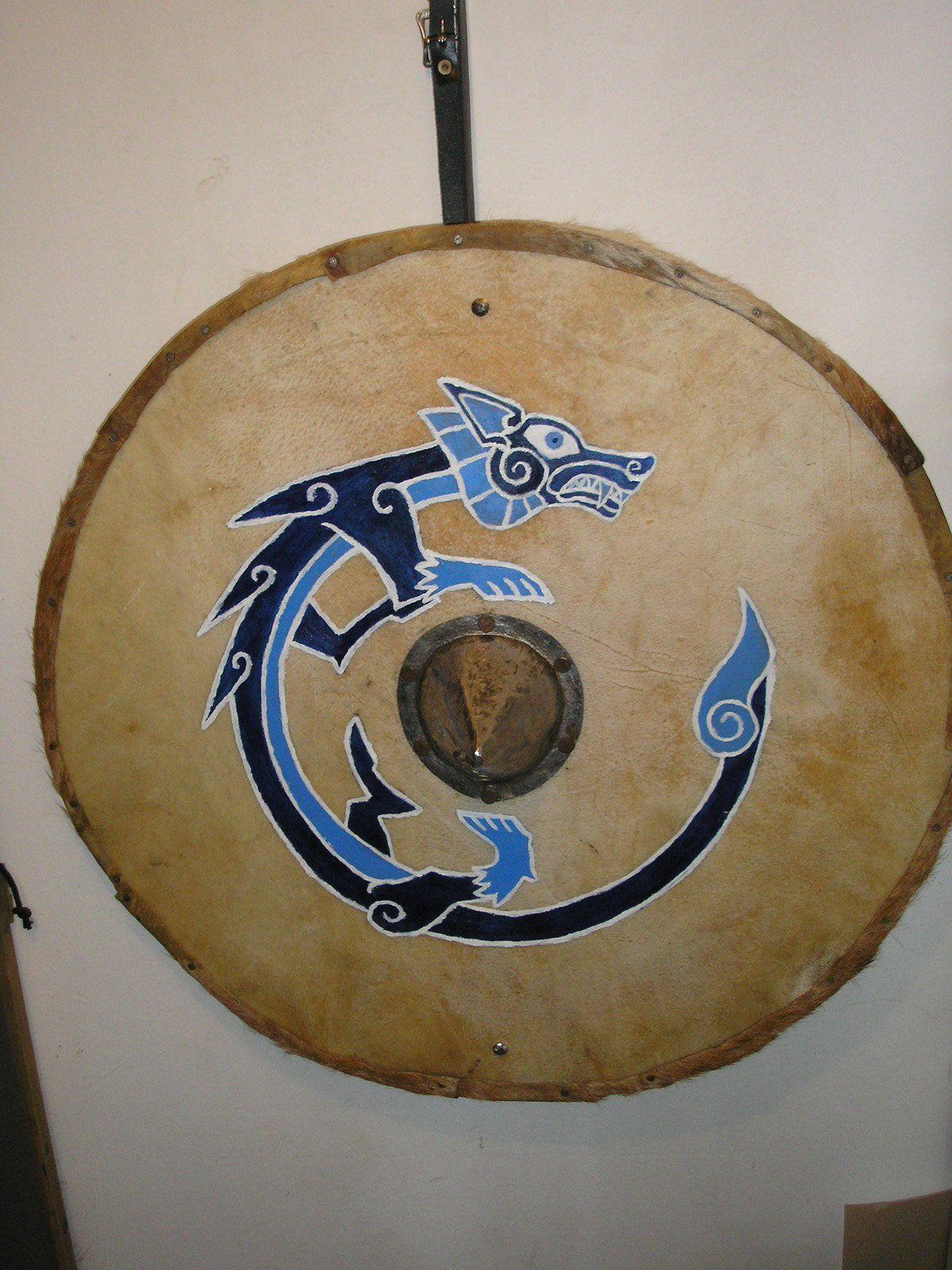 The Blue Wolf Shield II by Hjorverdr