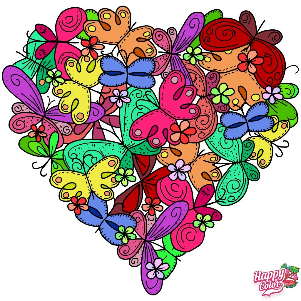 Pin By Genie Rich On My Paint And Coloring App Pictures Colorful Art Happy Colors Coloring Pages