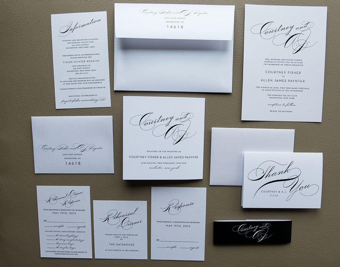 Simple Wedding Invitation Package With Tammy Swales Photography