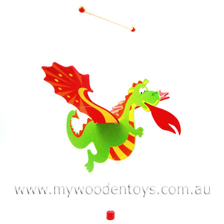 Wooden Flying Dragon Mobile Products Dragon Mobile Dragon