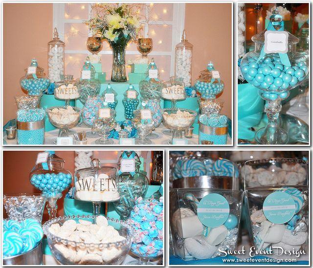Tiffany Blue Wedding Decorations: Tiffany Blue Theme Wedding Candy & Dessert Buffet