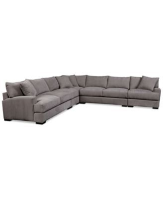 Rhyder 5 Pc Fabric Sectional Sofa With Apartment Sofa Created