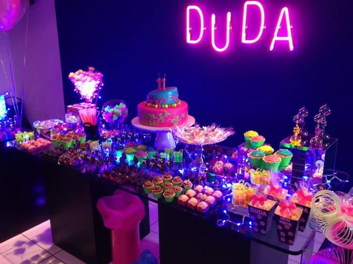 Neon Party Idea Supplies Ideas Planning Cake Tween Glow In The - Neon birthday party cakes