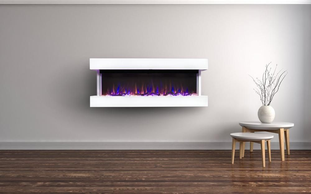 Touchstone Chesmont 50 Wall Mounted 3 Sided Electric Fireplace
