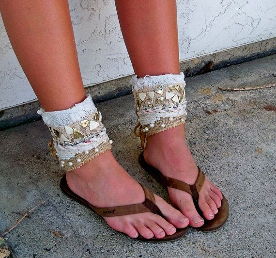 Beach Anklet Ankle cuff Free People Tribal by CalCoastCreations