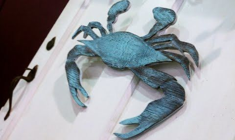 ole blue crabs for christmas christmas gift wall art sign door mantel crabber crab fishing 4500 via etsy