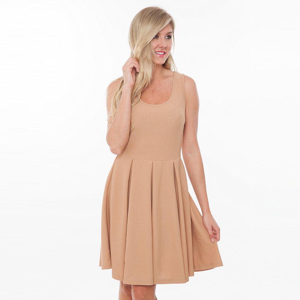 Women S White Mark Pleated Fit Amp Flare Dress Flare Mini