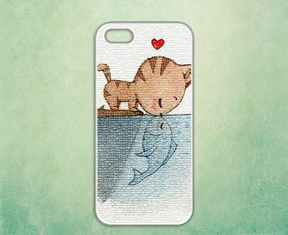 unique iphone 5 case  kissing cat by Casely on Etsy, $14.50