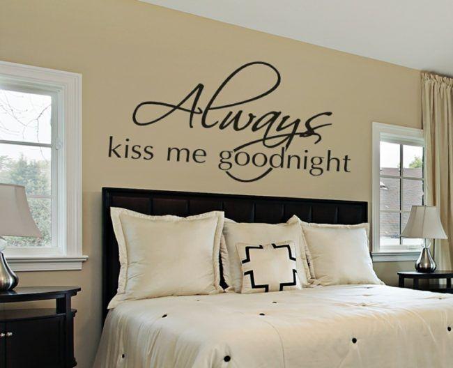 Wandtattoo Im Schlafzimmer Gute Nacht Kuss Spruche Liebe